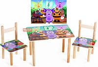 Детский стол и два стульчика Лунтик 063 Финекс Плюс