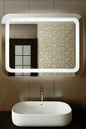 Зеркало с подсветкой для ванных комнат на влагостойком покрытии