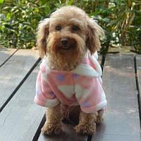 Комбинезон толстовка из флиса для собак с капюшоном