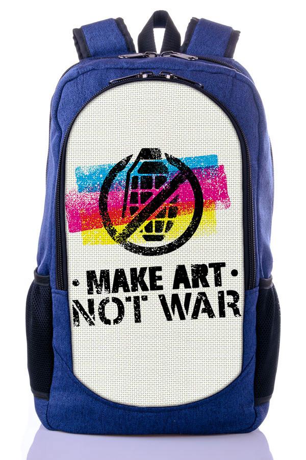 """Подростковый рюкзак """" NOT WAR"""" (синий)"""