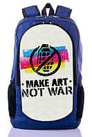 """Подростковый рюкзак """" NOT WAR"""" (синий), фото 1"""
