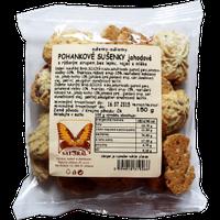 ВЕГА безглютеновое печенье гречневое с клубникой, 150 гр