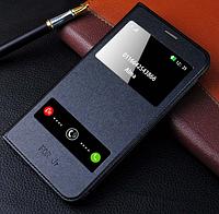 Черный кожаный чехол-книжка на Samsung Galaxy J7 (2016), фото 1