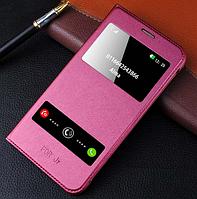 Кожаный чехол-книжка бардовый хамелеон на Samsung Galaxy J7 (2016), фото 1