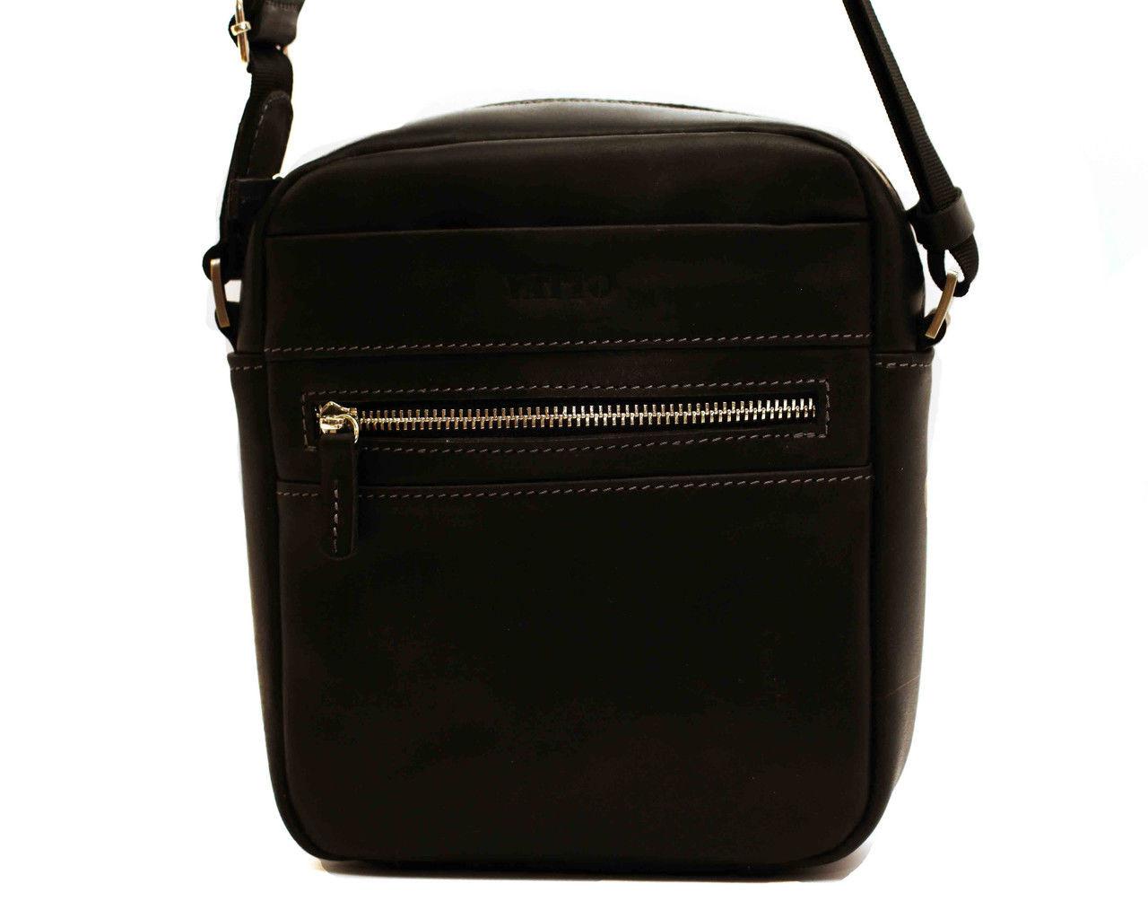 3ec823019813 Мужская сумка MK46Кaz670 VATTO кожаная черная — купить в Киеве недорого