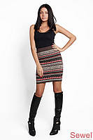 Женская вязаная теплая юбка