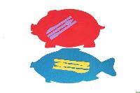 """Доска для пластилина """"Люкс Колор"""" Ф (яблоко, рыбка, груша, хрюша)+стеки"""