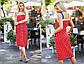 """Элегантный женский сарафан на пуговицах 274 """"Горошек Цветной Кант"""" в расцветках, фото 2"""