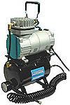 Миникомпрессор низкого давления с ресивером, регулятором и шлангом 1/8 HP