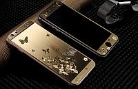Двойное 3Д защитное противоударное стекло Бабочки для Iphone 6/6S, фото 1