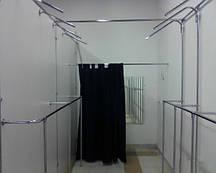 Торговое оборудование для магазина одежды из трубы