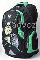 Школьный рюкзак для мальчиков sport DFW зелёный с чёрным