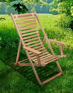Шезлонг дерев'яний Пікнік