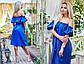 """Элегантное женское платье средней длины 233 """"Лён Фонарики"""" в расцветках, фото 3"""