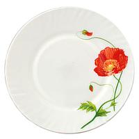 Тарелка 23 см Красный мак.