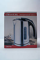 Дисковый чайник Crystal CR-1719 с LED подсветкой, кухонная техника, товары для кухни, электрочайник