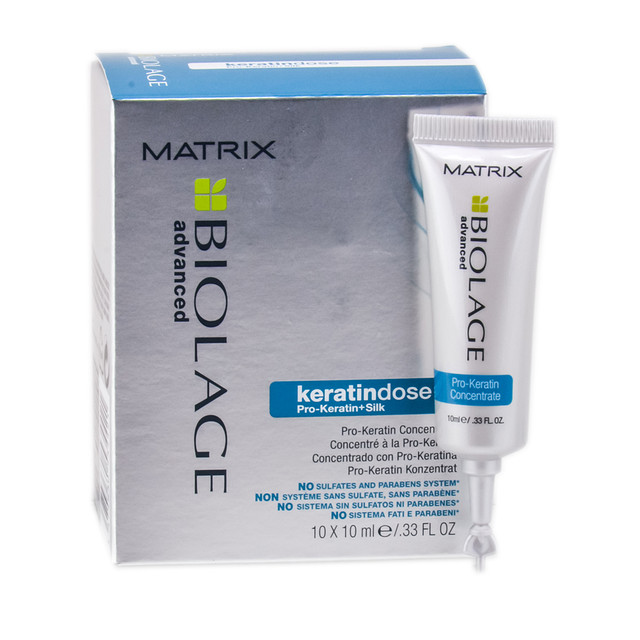 Matrix Biolage Ампулы для кератинового восстановления волос Keratindose,10х10 мл