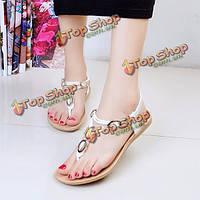 Женские летние квартиры пляж мягкие шлепки открытый скольжения моды на квартирах сандалии обувь