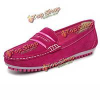 Женщины повседневная обувь без каблука окрашивают сдвиг квартир на круглых бездельниках пальца ноги