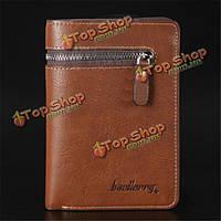 Мужчин короткий кожаный бумажник на молнии кошельки зажим для денег портмоне мужчина клатчи
