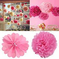 20шт папиросной бумаги POM помам цветка шарики свадьба домой напольное украшение