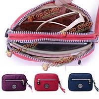 Женщины молния клатчи сумки девушки маленькие легкие водонепроницаемый телефон сумки Держатели карт