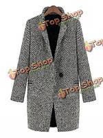 Пальто шерстяное классическое с длинным рукавом V-образный вырез Zanzea®