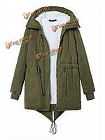 Zanzea Женская теплая зимняя куртка-пальто с капюшоном, фото 1