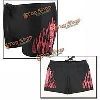 Мода Sexy пламя скейтборд мужчин плавки шорты