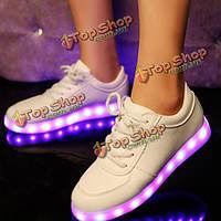 Унисекс USB LED свет Узелок светящихся обувь спортивная пара светящееся кроссовок