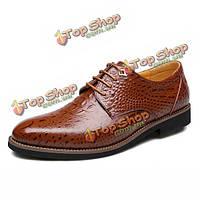 Мужчины обувь новый бизнес кожа формальный шнуровке мягкий круглый носок моды уличной обуви