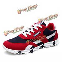 Мужчины спортивной обуви на открытом воздухе плоские моды случайные дышащая шнуровке сетки спортивной обуви