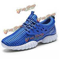 Мужчин спортивные кроссовки зашнуровать дышащие бег ходьба спортивная обувь