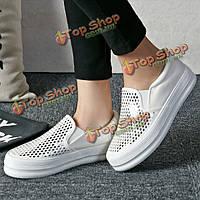 Обувь женщины на открытом воздухе случайные скольжения блестка блестящий чистый цвет корейском стиле на плоских бездельников