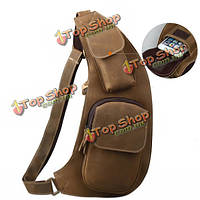 Мужчины натуральная кожа плюс размер Кроссбоди сумка конская досуга на открытом воздухе спорт путешествия сумка