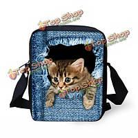 Мужчины женщины полиэстер кошка собака на открытом воздухе маленькая сумка на плечо Кроссбоди