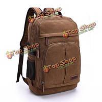 Мужчины холст отдыха рюкзак на открытом воздухе путешествие туризм емкость многофункциональные плечи мешок