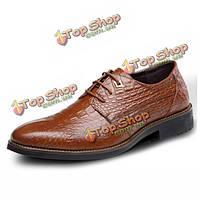 Новый мужской бизнес острым носом кожа формальный мода мягкие удобные ботинки партии