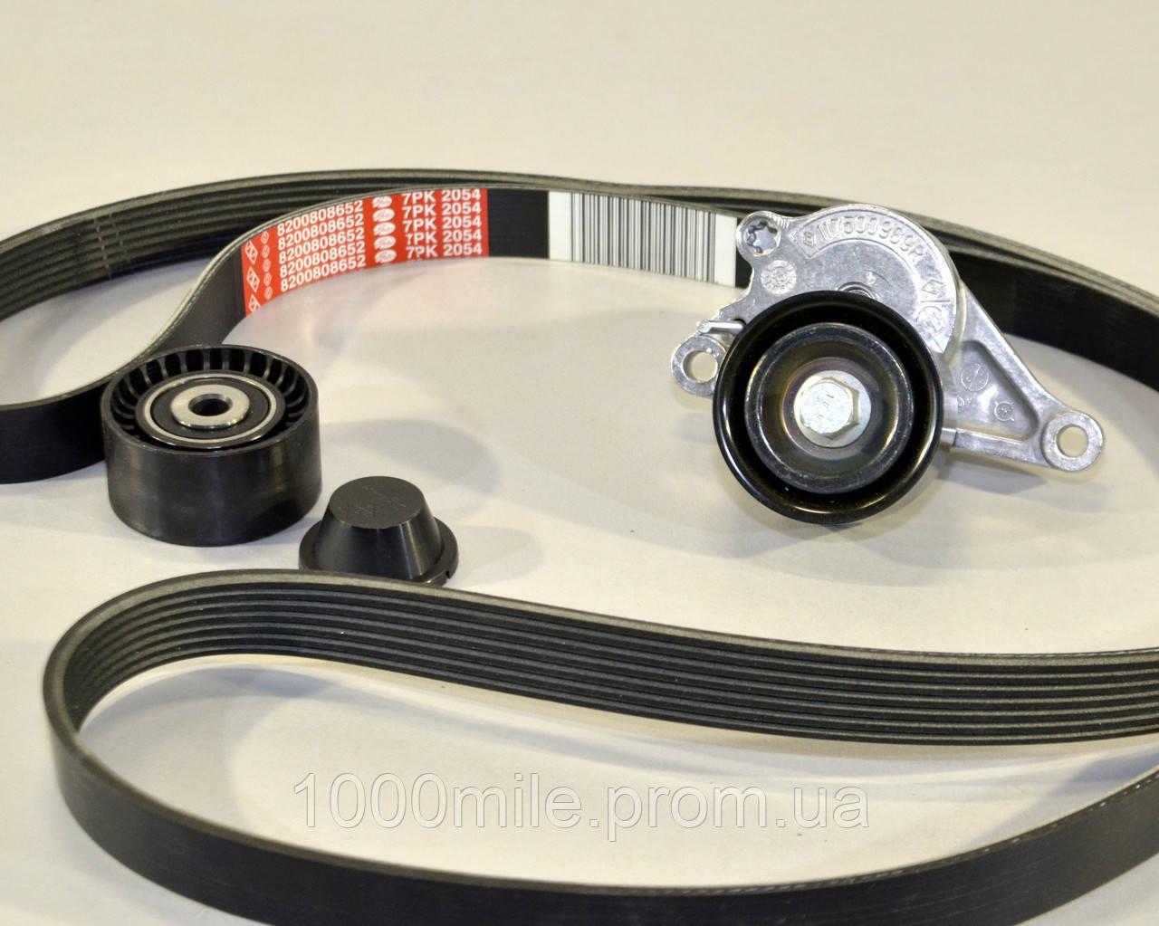 Комплект натяжитель + ролик + ремень на Renault Master III 2010-> 2.3dCi  — Renault (Оригинал) - 117207736R