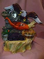 """Фонтан """"Орел с шаром"""" с подсветкой декоративный домашний 27х23х16 сантиметров"""