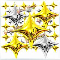 Шар надувной четырехугольная звезда из фольги