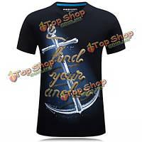 Летние мужчины 3d модели печати плюс размер s-4xl случайные личность короткий рукав футболки