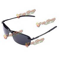 Мужские смолы металлического каркаса polarizated два цвета солнечные очки uv400 солнцезащитные очки