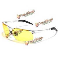 UV400 Male солнцезащитные очки желтые линзы ночного видения вождения очки рыбалки на велосипеде