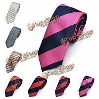 Афоризм мужские галстуки мужчина саржа полиэстер полосой тощий жаккардовые галстуки тканые