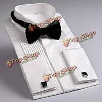 Мужчины черный Bowties классический нежный изысканный смокинг костюм свадебный банкет регулируемый галстук
