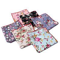 24x24см цветочные хлопок карман квадратный платок свадьба шуры костюм аксессуары