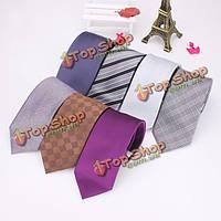 2015 мужчины галстук деловой стиль реальный шелковый галстук жениха аксессуары
