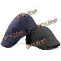 Береты мужские Газетчик полосатые регулируемые gorras Планас шляпа Таксист плюща крышка