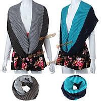 Мужчины женщины плетеный вязать шерстяные шарфы круглый шеи Wrap шали